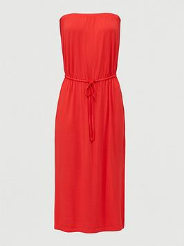 v-by-very-bandeau-channel-waist-jersey-midi-dress-red