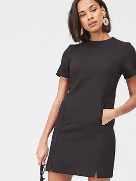 v-by-very-high-neck-simple-tunic-dress--black