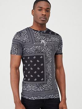 river-island-western-print-slim-fit-t-shirt