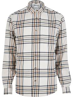 river-island-ecru-check-long-sleeve-big-and-tall-shirt