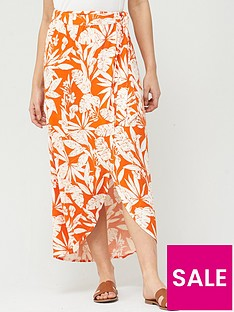 v-by-very-wrap-jersey-maxi-skirt-orange-print