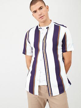 river-island-short-sleeve-stripe-shirt-navynbsp