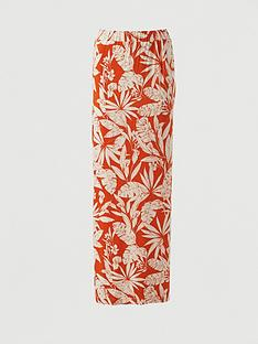 v-by-very-split-side-jersey-maxi-skirt-orange-print