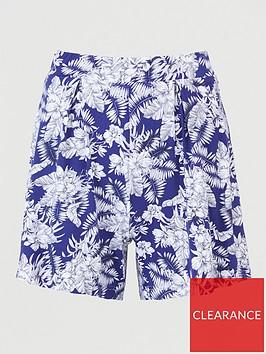 v-by-very-pleated-jersey-shorts-navy-print