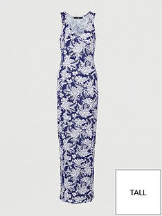 v-by-very-tallnbspv-neck-jersey-maxi-dress-navy-print