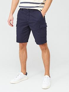 lyle-scott-cargo-shorts-navy