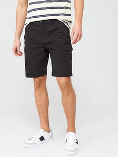lyle-scott-cargo-shorts-black