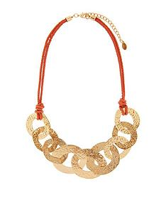 accessorize-hammered-links-collar-gold