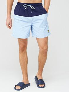 lyle-scott-half-split-swim-short-light-bluenavy