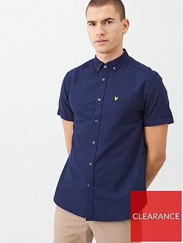 lyle-scott-shortv-sleeved-oxford-shirt-navy