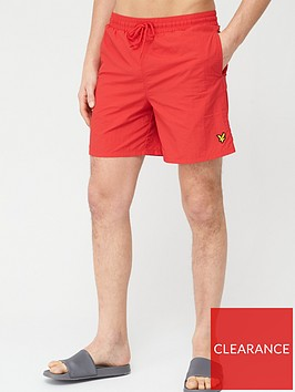 lyle-scott-plain-swimshort-red