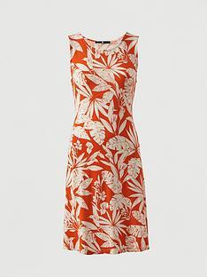 v-by-very-sleeveless-floral-jersey-dress-orange-print