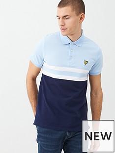 lyle-scott-yoke-stripe-polo-shirt-light-bluenavy
