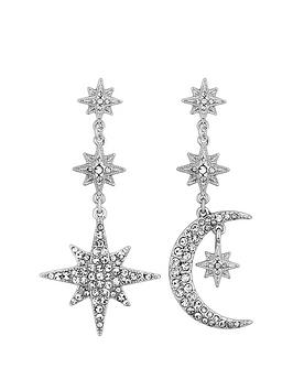mood-silver-plated-crystal-celestial-star-and-moon-drop-earrings