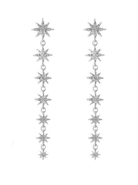 mood-mood-silver-plated-crystal-star-linear-drop-earrings
