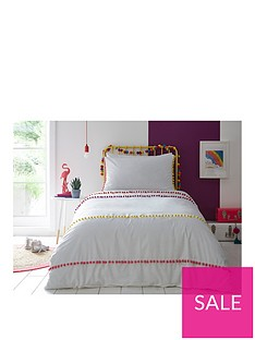 appletree-pom-pom-stripe-duvet-cover-set