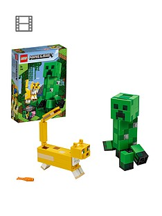 lego-minecraft-21156-bigfig-creeper-and-ocelot-figures