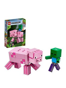 lego-minecraft-21157-bigfig-pig-with-baby-zombie-figures
