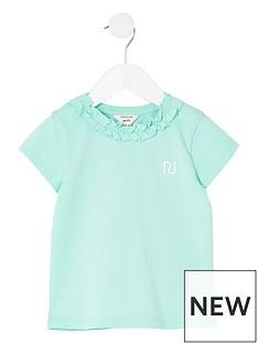 river-island-mini-mini-girls-frill-neck-t-shirt-mint