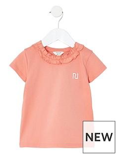 river-island-mini-girls-frill-neck-t-shirt--nbsppink