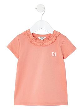 river-island-mini-girls-frill-neck-t-shirt--nbsppink