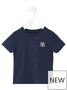 river-island-mini-mini-boys-rvr-embroidered-tshirt-navy