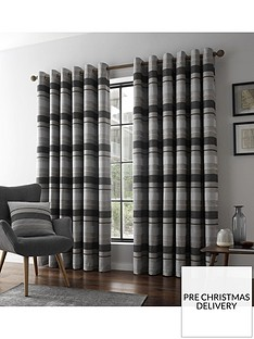 catherine-lansfield-powel-jacquard-stripe-eyelet-curtains