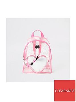 river-island-girlsnbspheart-vinyl-backpack-pink