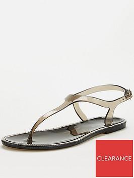 v-by-very-halay-t-bar-diamante-jelly-sandal-black