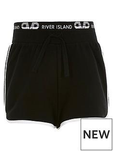 river-island-girls-waistband-runner-short-black