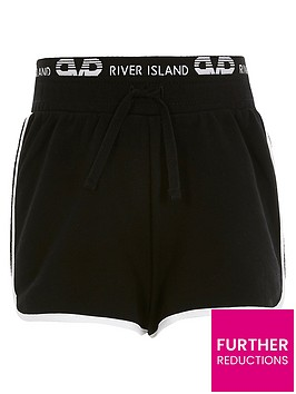 river-island-girls-waistband-runner-short-black
