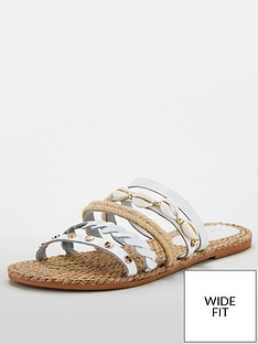 v-by-very-leather-wide-fit-hox-shell-trim-strappy-sandal-white