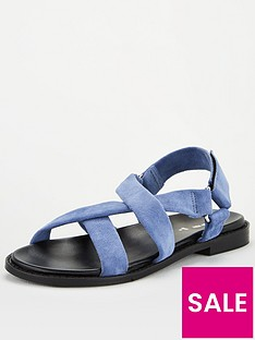 v-by-very-harleigh-real-suede-strappy-footbed-sandal-blue