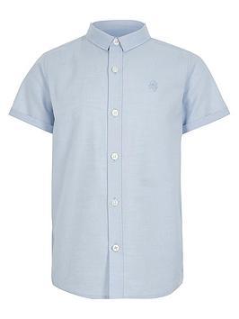river-island-boys-short-sleeve-twill-shirtnbsp--blue