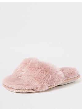 river-island-girls-diamante-bow-slipper--pink