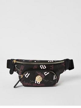 river-island-girls-grafitti-printed-bumbag-black