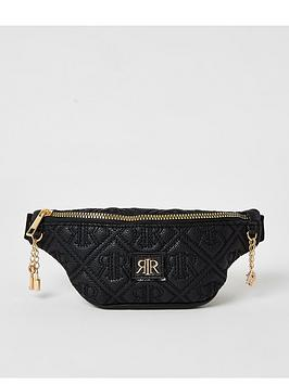 river-island-girls-embossed-faux-leather-bumbag-black