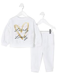 river-island-mini-mini-girls-printed-sweat-and-jog-pant-white