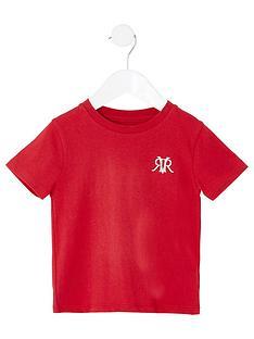 river-island-mini-mini-boys-rvr-embroidered-tshirt-red