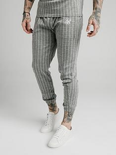 sik-silk-smart-cuff-pants-grey