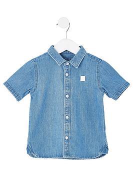 river-island-mini-mini-boys-short-sleeve-denim-shirt-blue