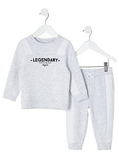 river-island-mini-mini-boys-legendary-sweat-and-jogpant-set-grey
