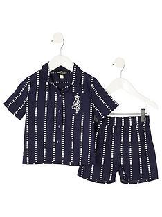 river-island-mini-mini-boys-stripe-pyjama-set-navy