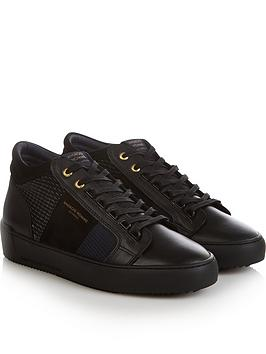 android-homme-mens-propulsion-mid-geo-textured-trainers-blacknavy