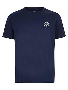 river-island-boys-rvr-embroidered-t-shirt-navy