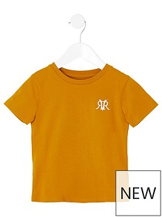 river-island-mini-mini-boys-rvr-embroidered-tshirt-yellow