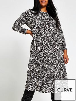 ri-plus-long-sleeve-printed-smock-dress-multi