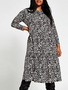 ri-plus-long-sleeve-printed-smock-dress