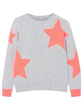 mintie-by-mint-velvet-girls-star-jumper-greyneon-orange
