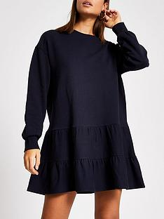 river-island-river-island-smock-jersey-sweater-dress-navy